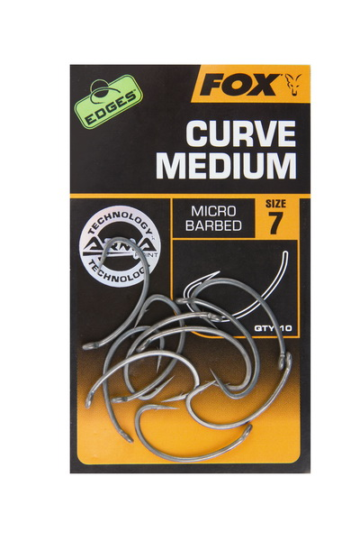 CURVE SHANK MEDIUM Size 8B BARBLESS