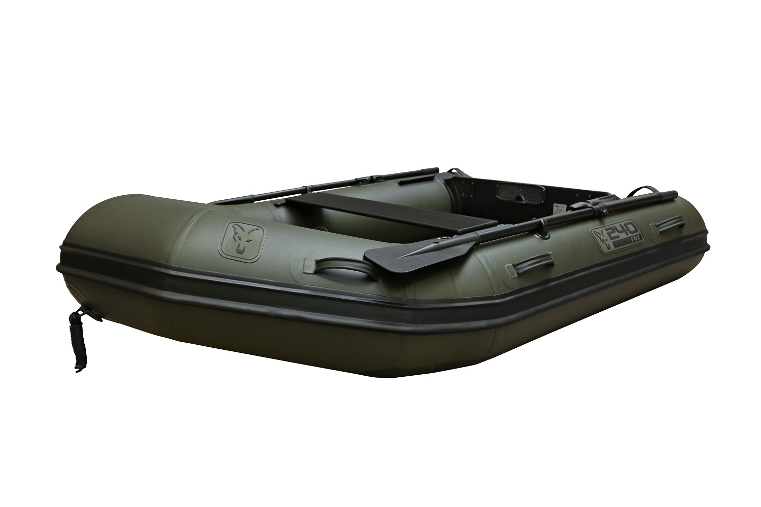 FOX 2.4m Green Inflable Boat - Air Deck Green