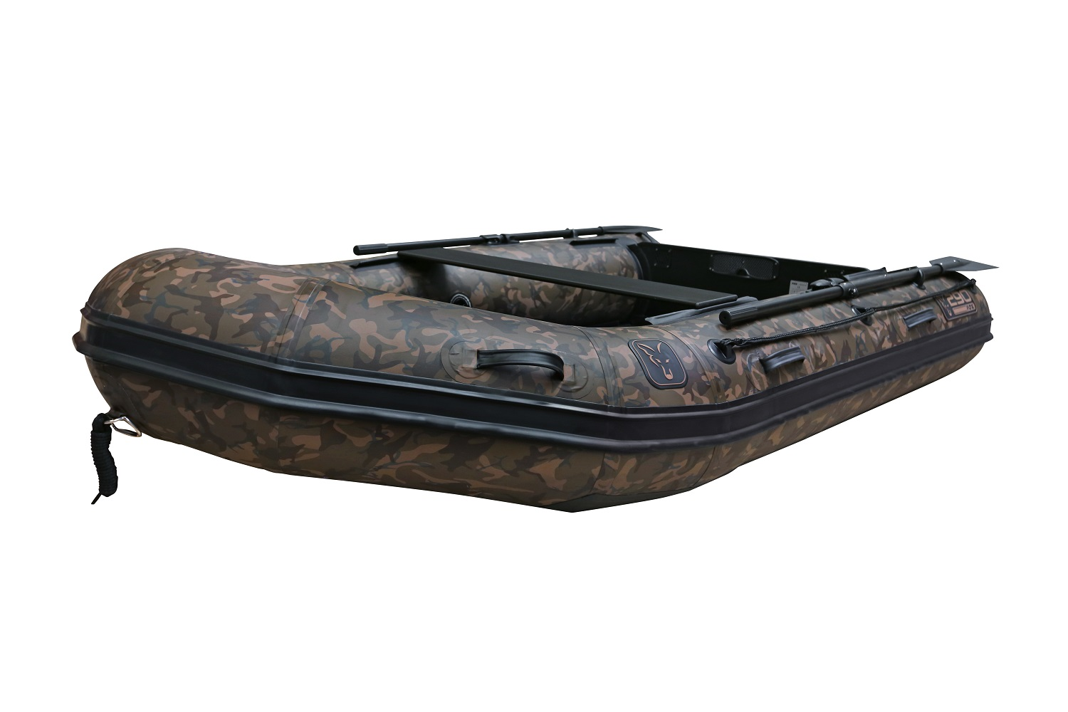 FOX 2.9m Camo Inflable Boat - Air Deck Black