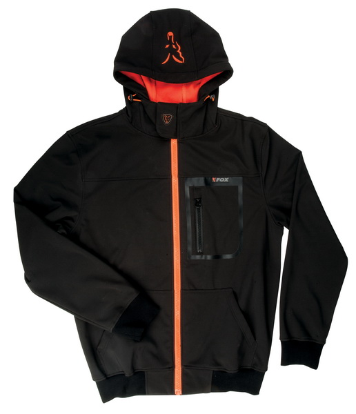 FOX BLACK/ORANGE SOFTSHELL HODDY L