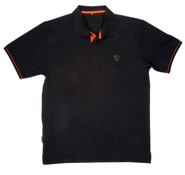 FOX BLACK/ORANGE POLO SHIRT XL