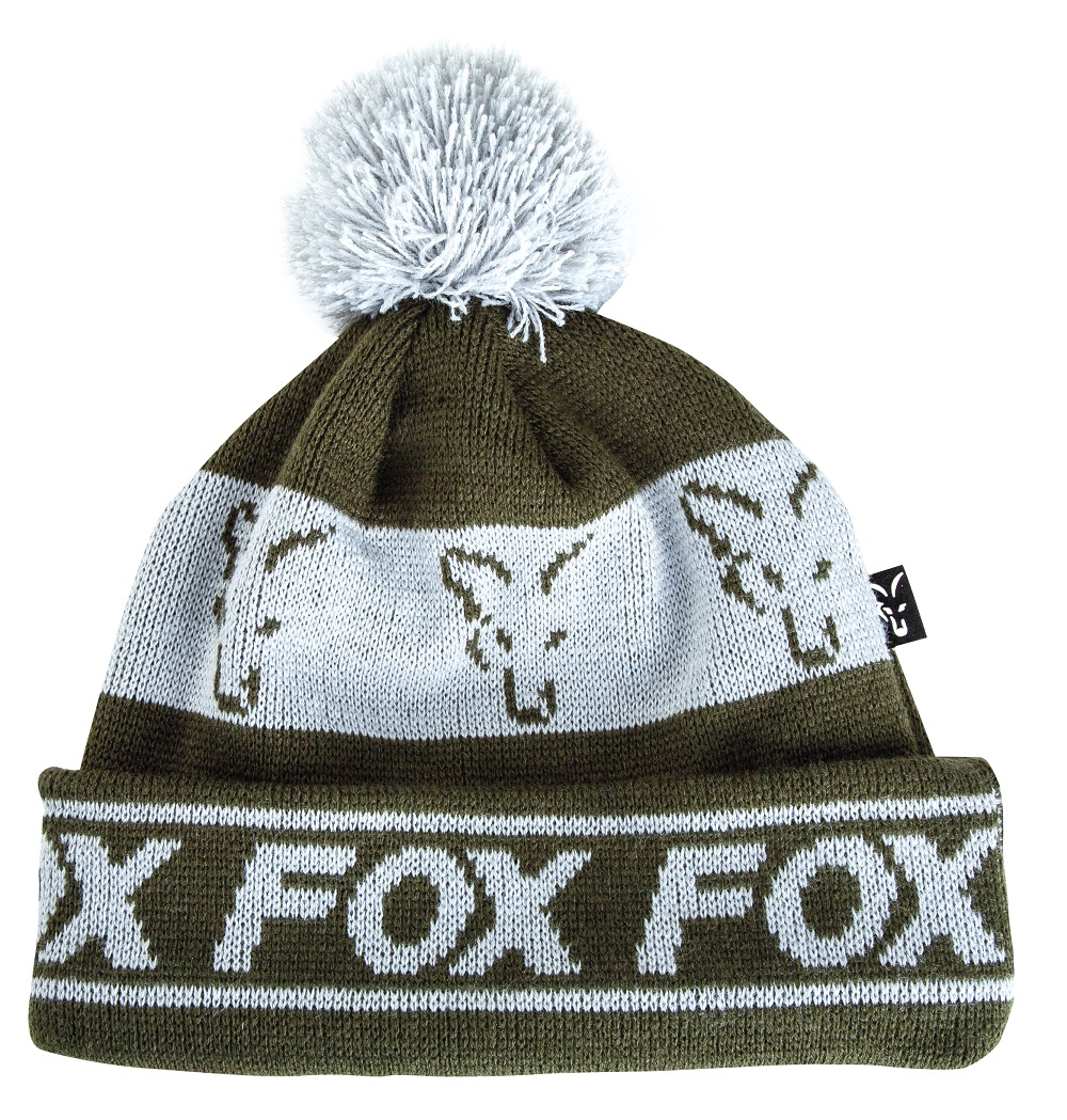 FOX GREEN/SILVER LINED BOBBLE HAT
