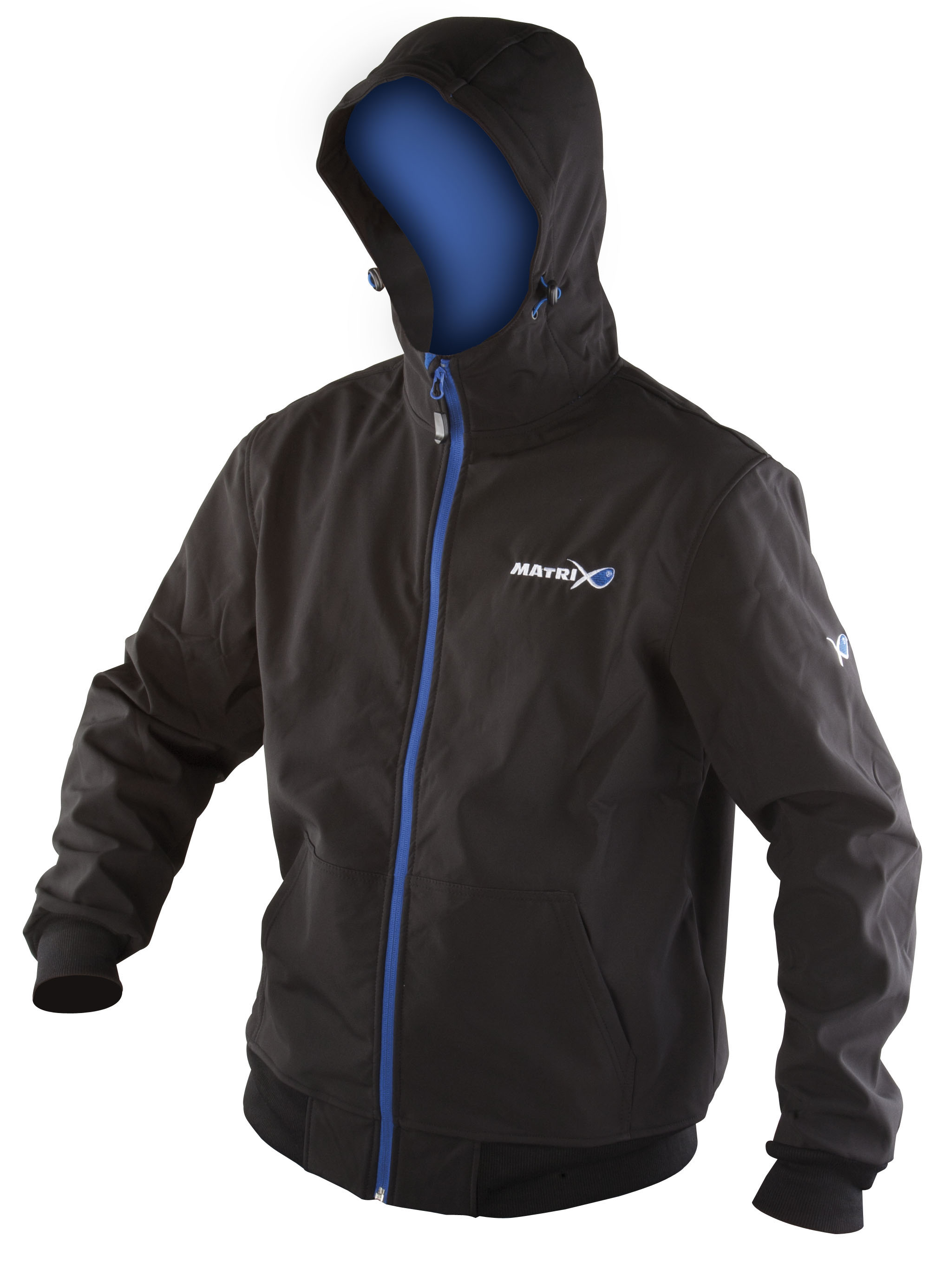 MATRIX SOFTSHELL HODDY BLACK/BLUE