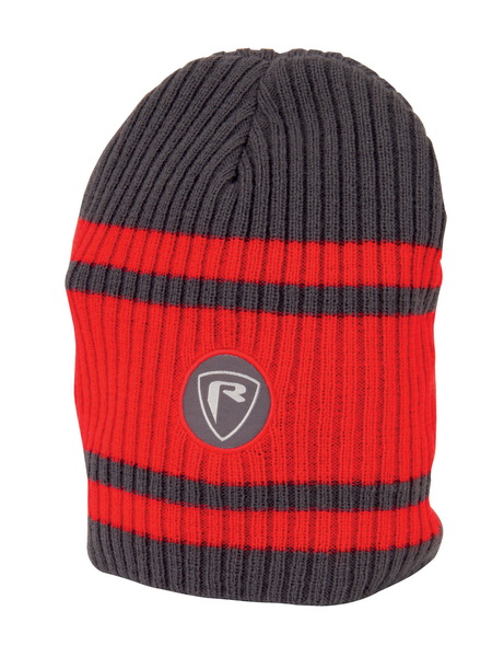 RED/GREY BEANIE