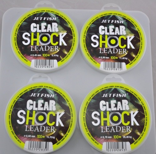 CLEAR SHOCK LEADER 100m 0,45mm