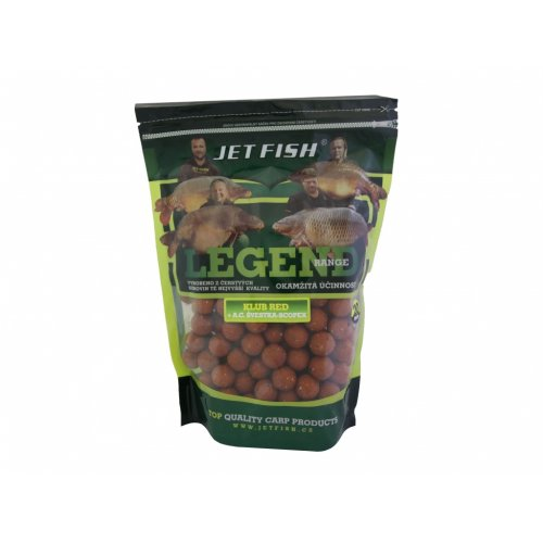 Boilies LEGEND KLUB RED SLIVKA/SCOPEX 24mm 1kg